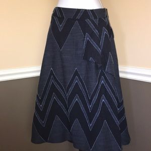 Anthropologie Eva Franco Textured Chevron Skirt 4